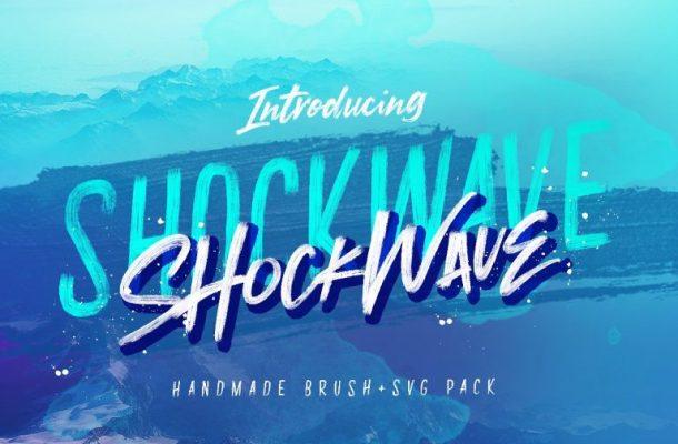 Shockwave Brush Font
