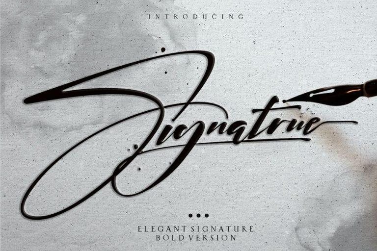 Signatrue Elegant Signature Font