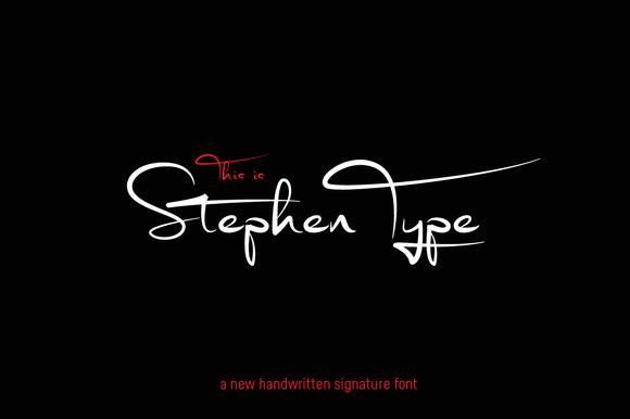 Signature font – Stephen Type