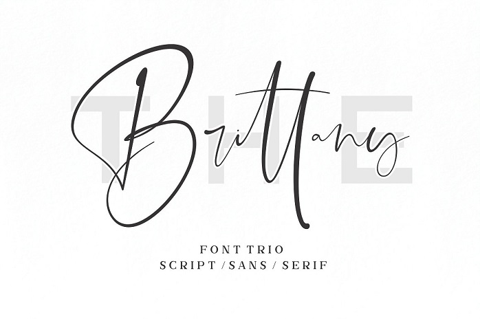 The Brittany Font Trio