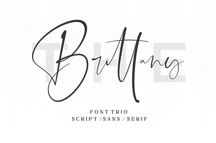 The Brittany Font Trio