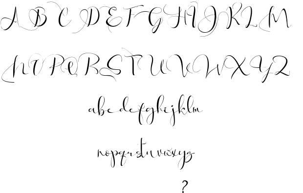 Via Vallen Calligraphy Font-1