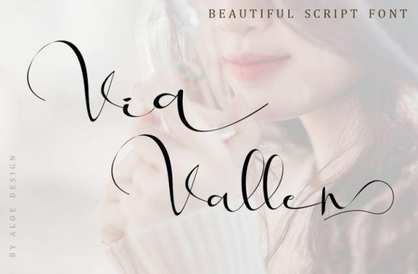 Via Vallen Calligraphy Font