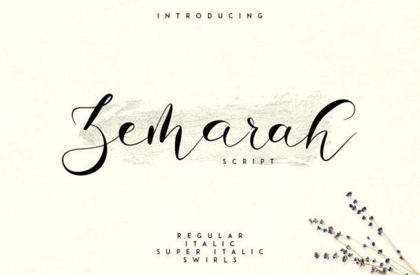 Zemarah Script Font