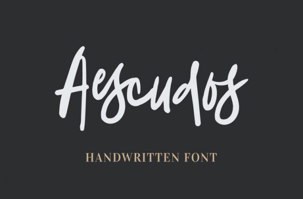 Aescudos Handwritten Font