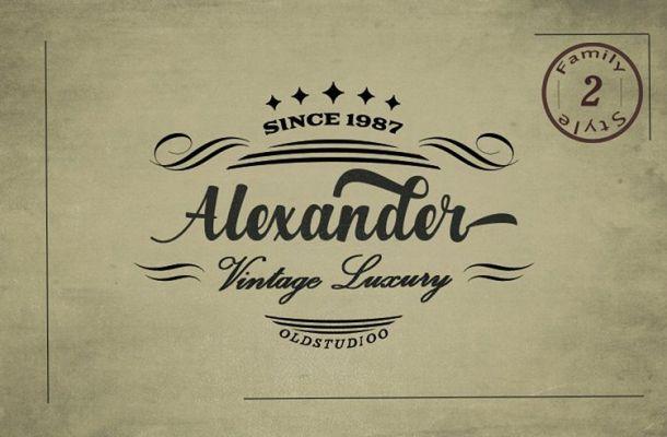 Alexander Script Font