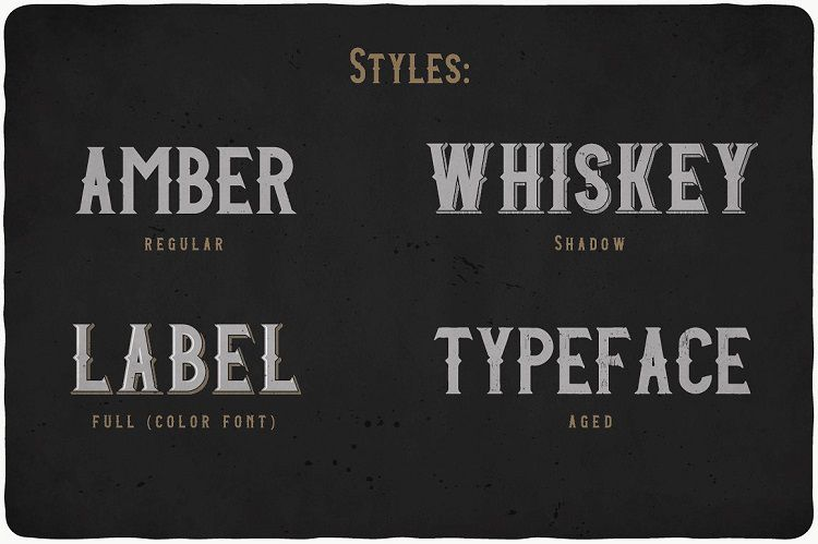 Amber Whiskey Typeface-2