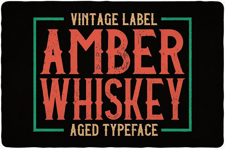 Amber Whiskey Typeface