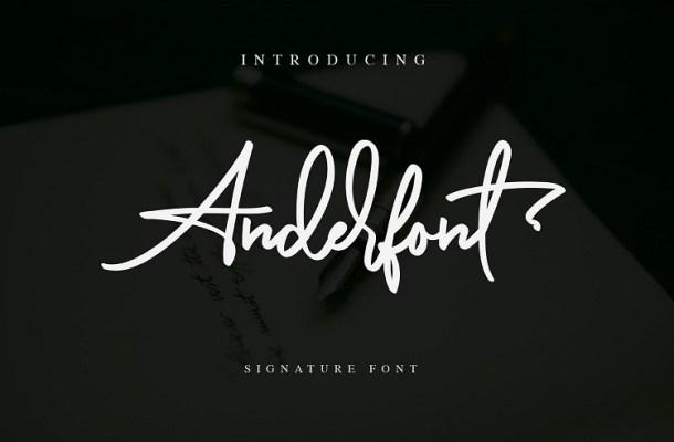 Anderfont Signature Font