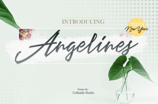Angelines Script Font