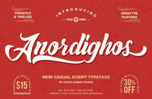 Anordighos Script Font