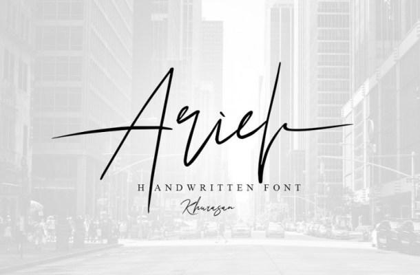 Ariel Signature Font