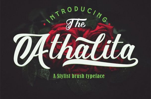 Athalita Brush Stylist Font