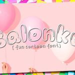 Balonku Cartoon Font