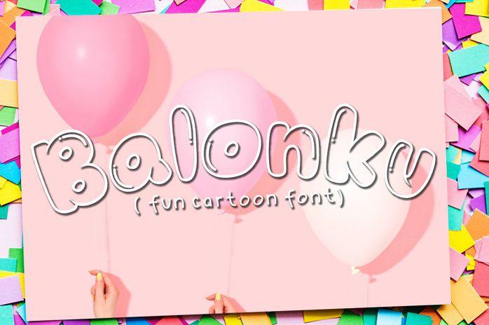 Balonku Cartoon Font
