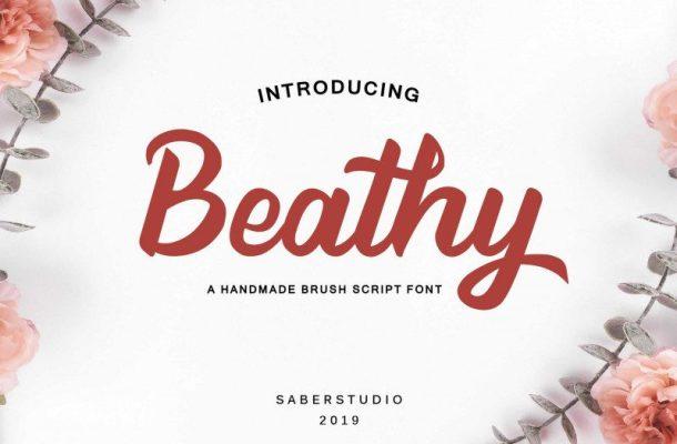 Beathy Handwritten Font