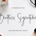 Beatrix Signature Font
