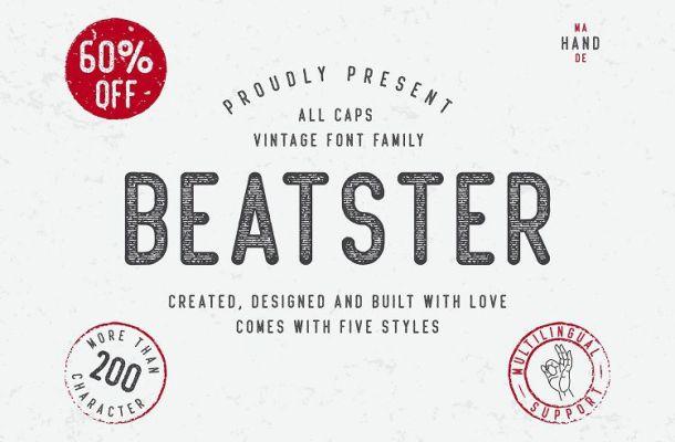 Beatster Typeface