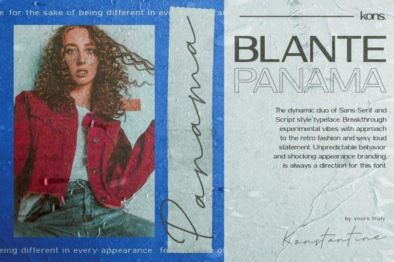 Blante Panama Font Dou-2