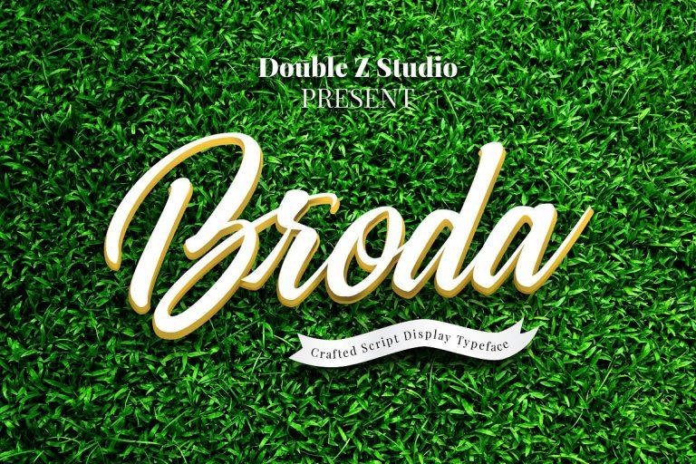 Broda Script Font