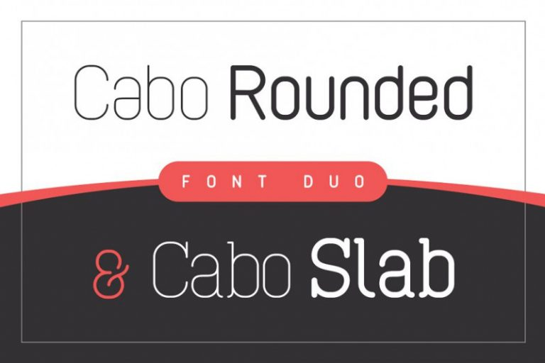Cabo Rounded and Slab Font Duo-3