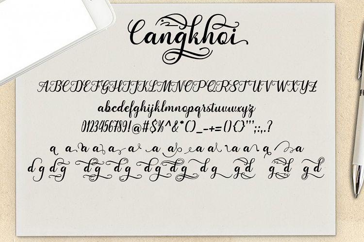 Cangkhoi Script Font-3