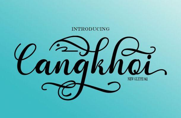 Cangkhoi Script Font