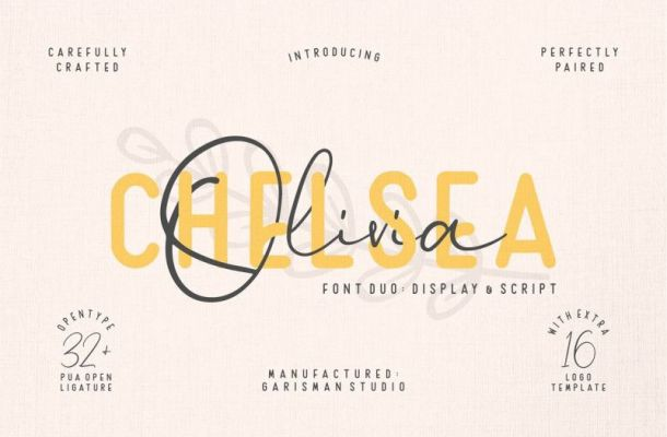 Chelsea Olivia Font Duo