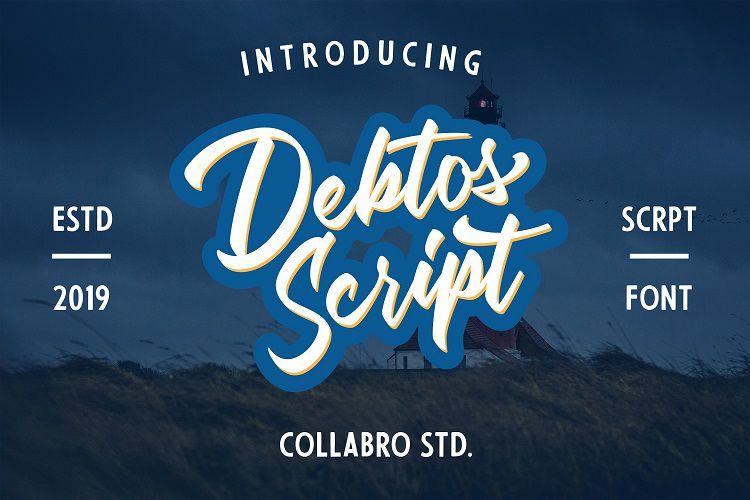 Debtos Script Font - Dafont Free