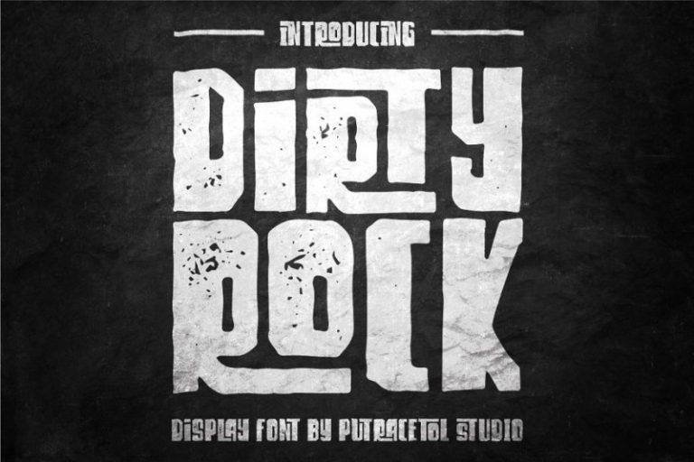 Dirty Rock Typeface