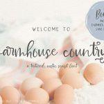 Farmhouse Country Rustic Script Font