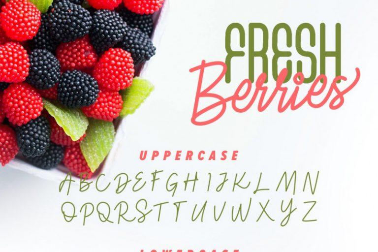 Fresh Berries Font Duo-3