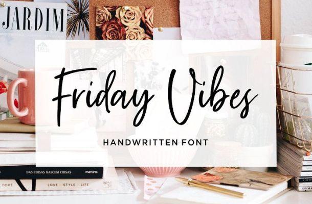 Friday Vibes Handwritten Font