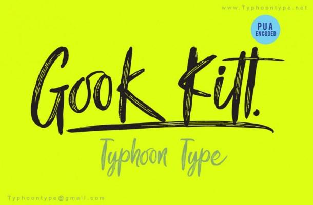 Gook Kitt Brush Font