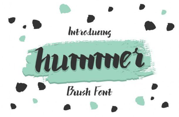 Hummer Brush Graffiti Font