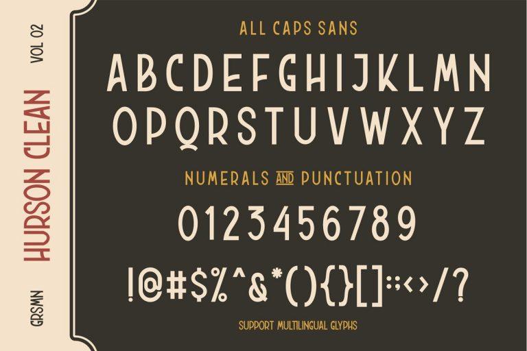 Hurson Clean Typeface-3