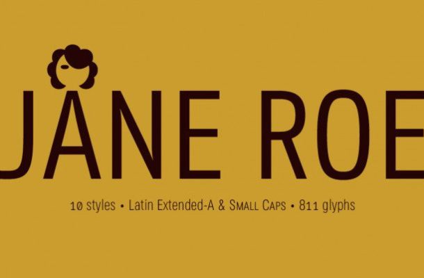 JANE ROE Sans & Condensed Fonts