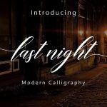 Last Night Script Font