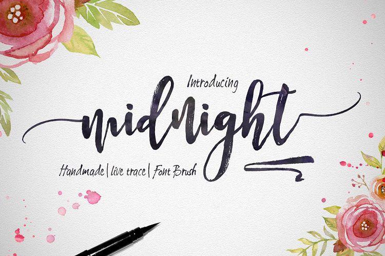Midnight Script Font - Dafont Free