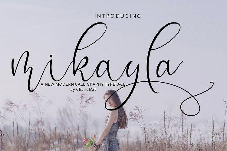 Mikayla Script Font