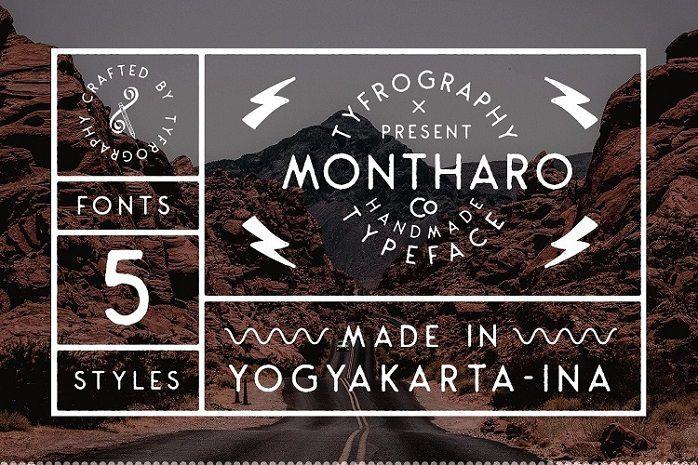 Montharo Font Family