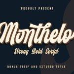 Monthelo Vintage Font