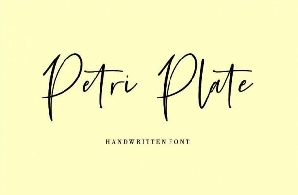 Petri Plate Handwritten Font
