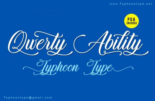 Qwerty Ability Script Font