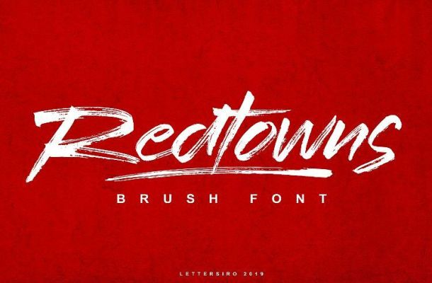 Redtowns Brush Font