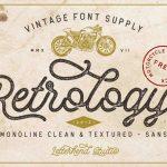Retrology Script Font