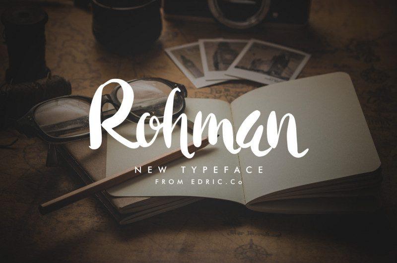 Rohman Script Font