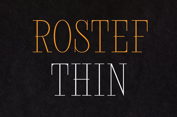 Rostef Thin Font