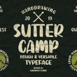 SUTTER CAMP Typeface