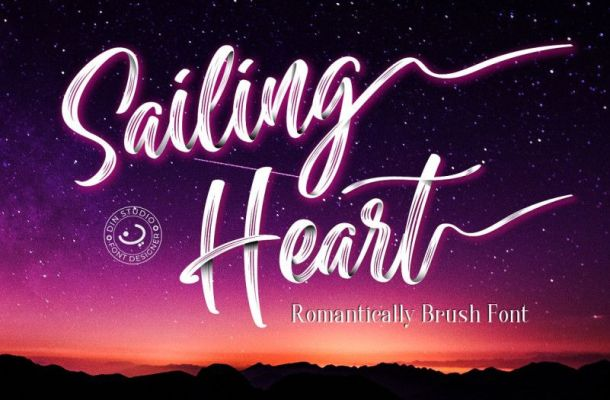 Sailing Heart Brush Font